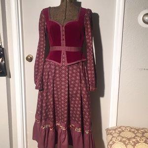 Gimme Sax prairie dress 70s